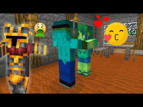 SPY ON MARK FRIENDLY ZOMBIE AND MARIE KISSING INSIDE THE ZOMBIE HOUSE! DON'T SCARE THEM! Minecraft