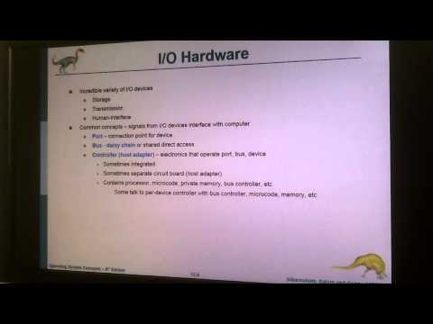 Operating Systems: I/O Systems 1/3