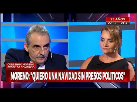 Guillermo Moreno Con Nancy Pazos En Cronica TV 12/12/19