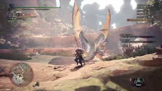 First Ruiner Nergigante Encounter INSECT GLAIVE Monster Hunter World