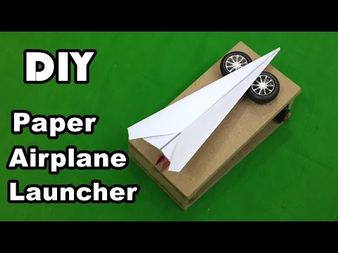 How to Make an Electric Paper Airplane Launcher at Home