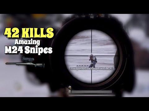 Amazing Headshot Snipes   PUBG Mobile   Vikendi 42 Kills Win - Ft. Fatih