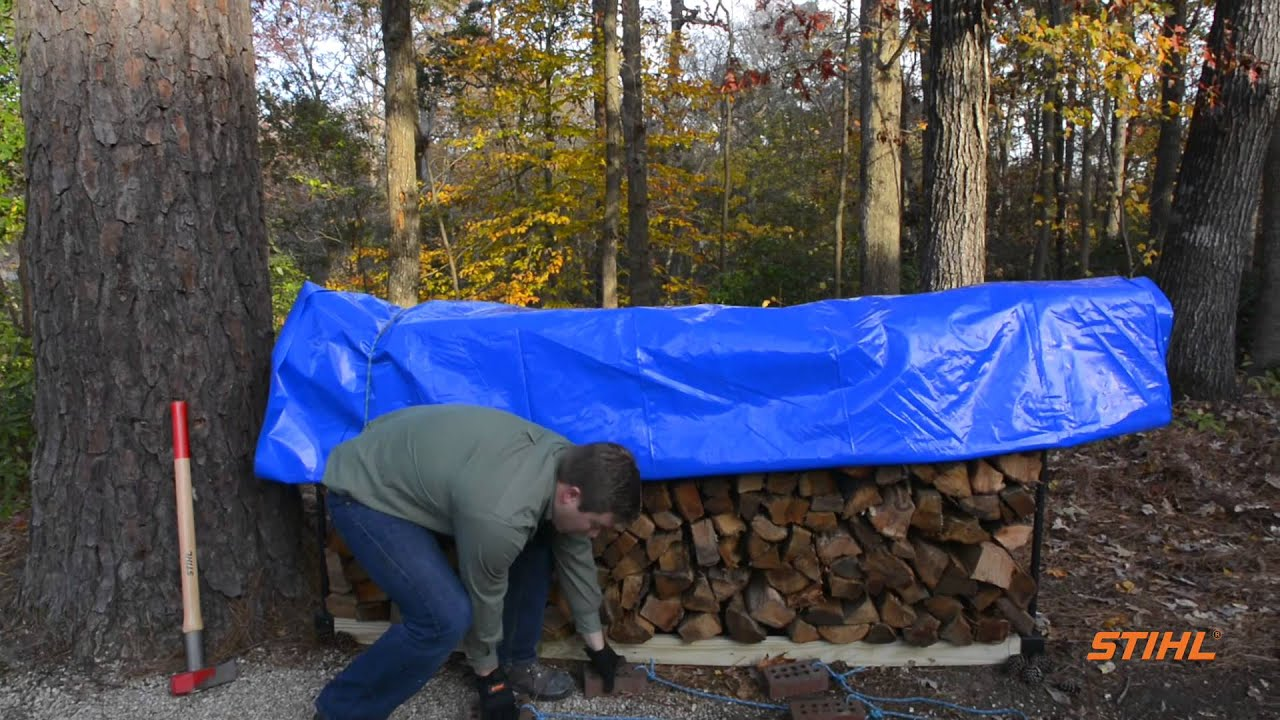 How To Properly Store Firewood   YouTube