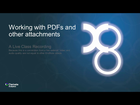 Working with PDFs and other attachments: A Live Class Recording