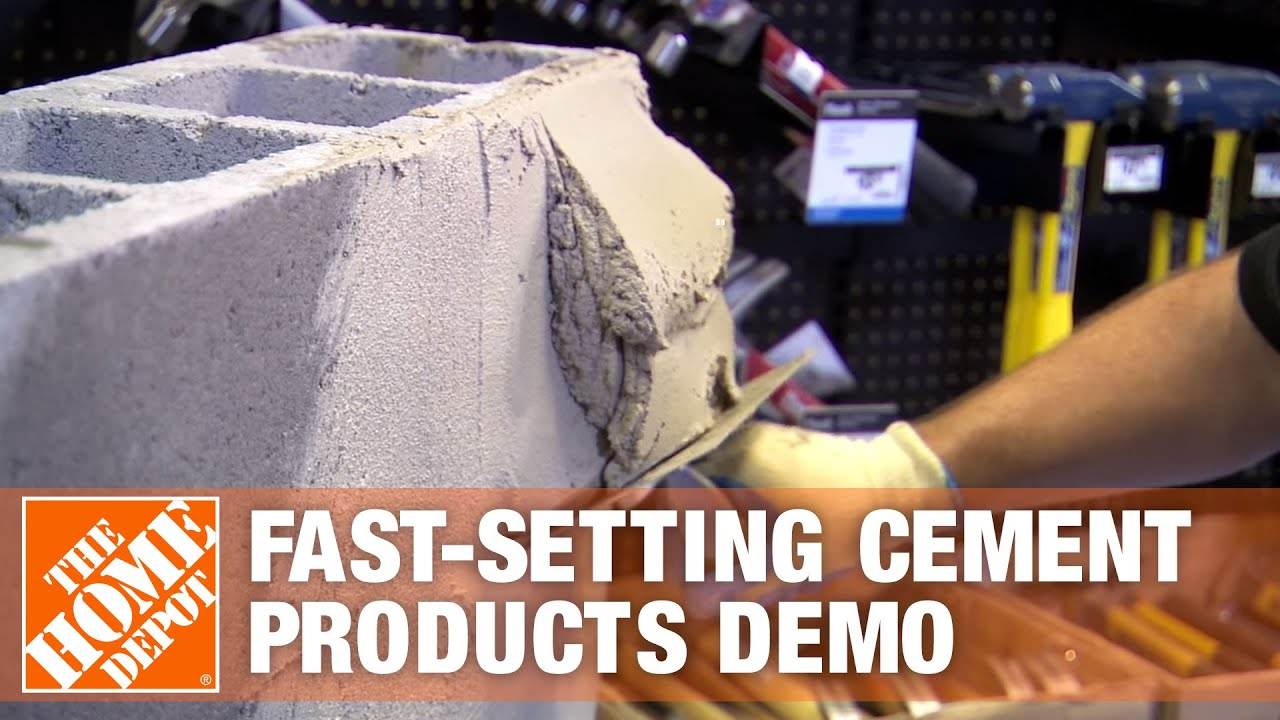 Quick Setting Cement : Cts rapid set fast setting cement products demonstration