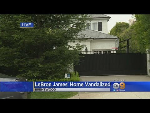 LeBron James' Brentwood Home Vandalized With Racial Slur
