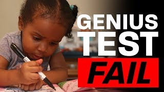 I gave my 2-year-old the GENIUS TEST *she failed*