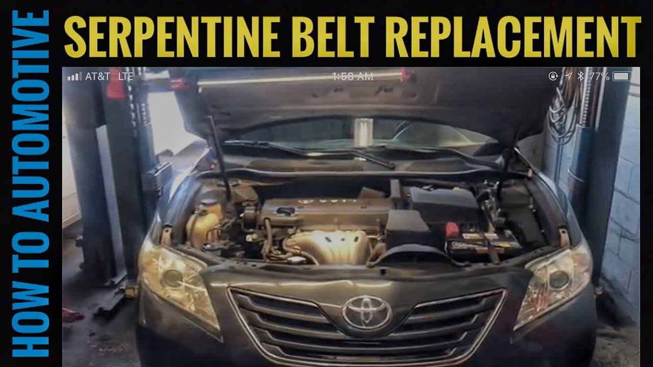 How to Replace the Serpentine Belt on a 20062011 Toyota Camry with 24L Engine  YouTube