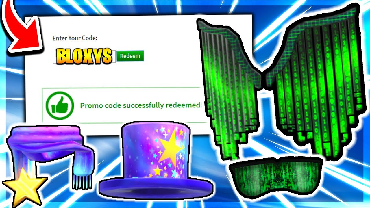 May 2020 All Roblox Promo Codes Free Roblox Bloxy Event Items