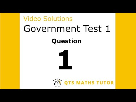 Test 1 Q1 –Numeracy Professional Skills Government Test Model Solutions