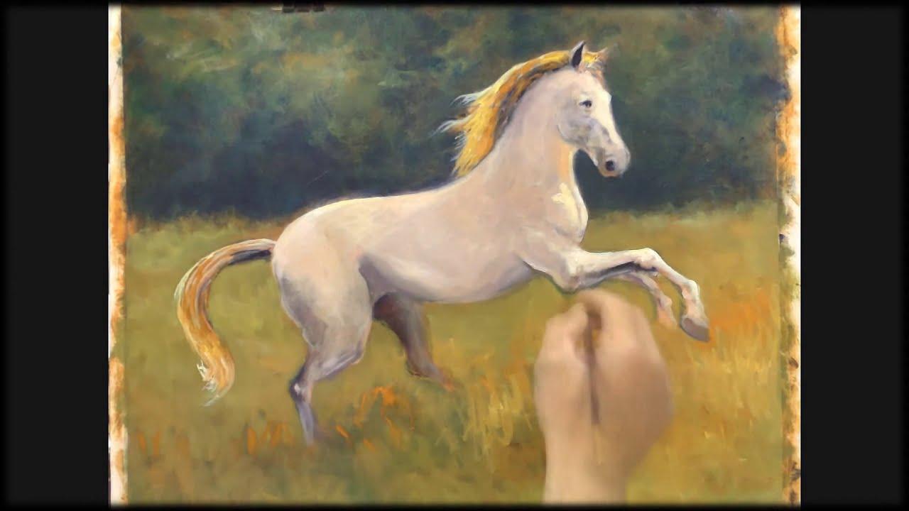 Horse - oil pai...