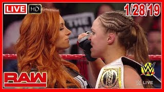 WWE Monday Night RAW 1/28/2019 Full Show Review & Highlights Results