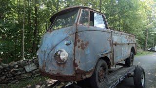 1958 Vw Single Cab Bus Found : Logo'd Split Window Pressed Bumper Volkswagen SC !