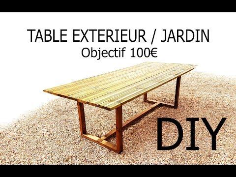 Fabriquer une table d'extérieur/jardin pour - de 100€