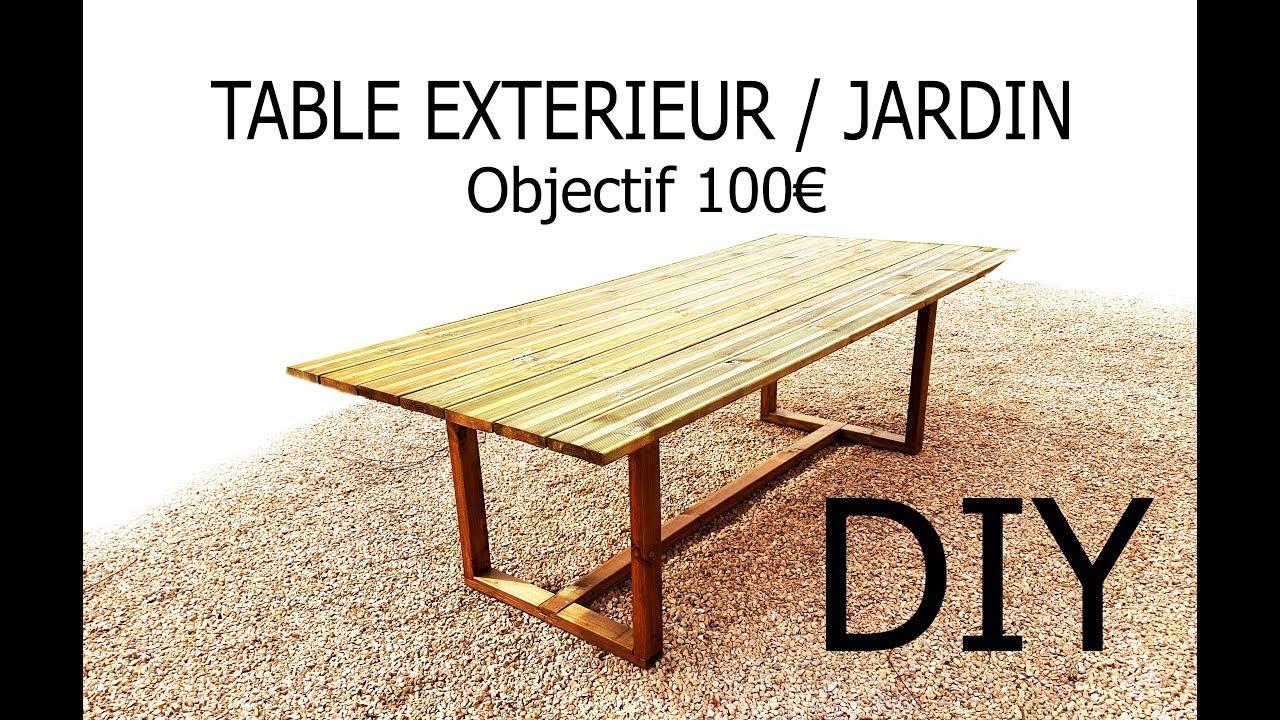 fabriquer une table d exterieur jardin pour de 100
