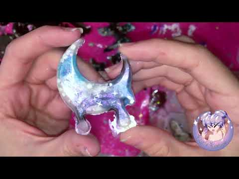 ASMR Demolding Galaxy cabochons lightswitch plate and black