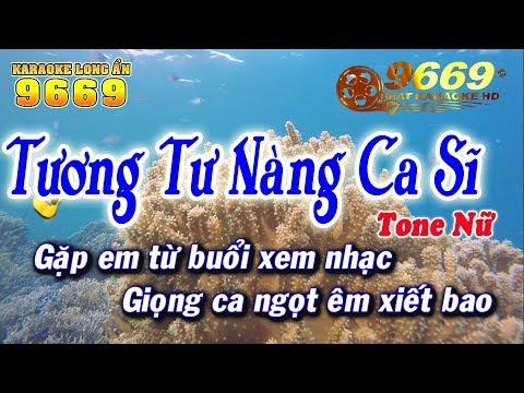 Karaoke Tương Tư Nàng Ca Sĩ | Tone Nữ | Nhạc sống KLA | Karaoke 9669