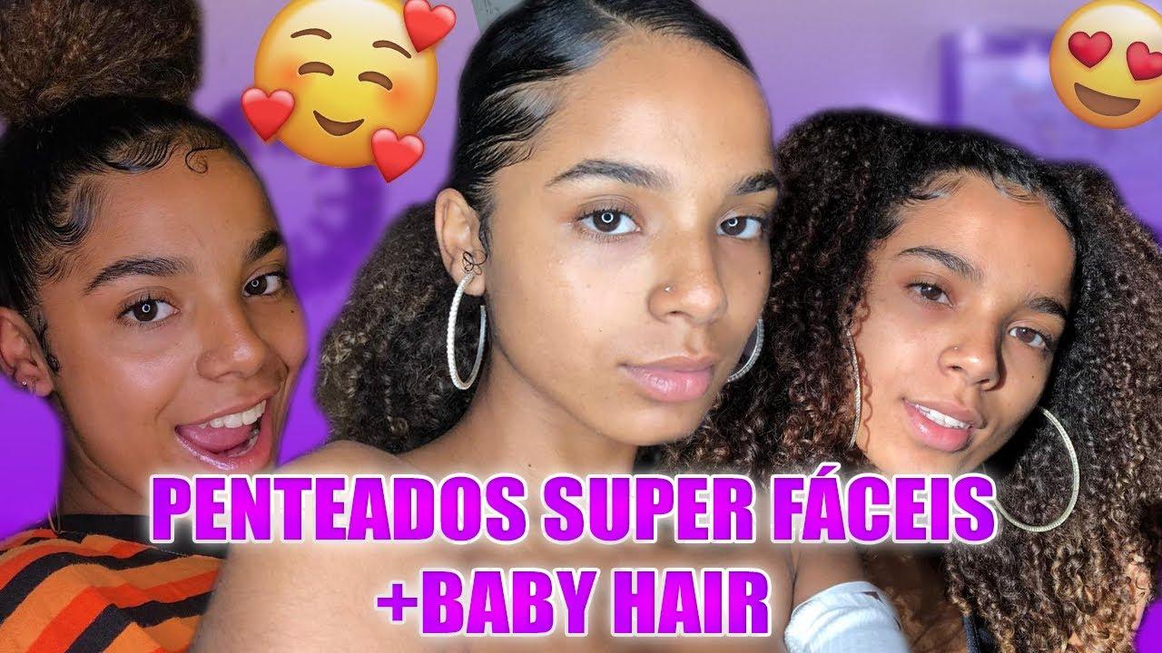 3 Penteados para cabelo cacheado + BABY HAIR
