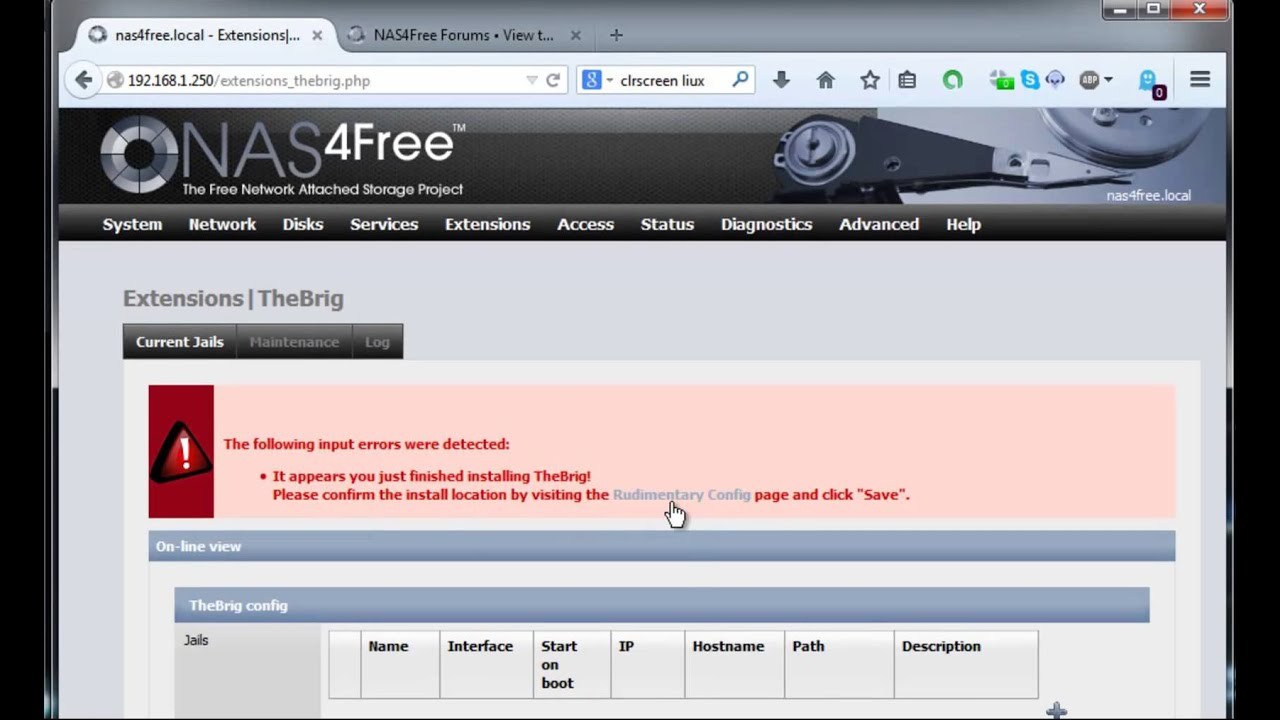 Install and configure a Jail inside Nas4Free How To