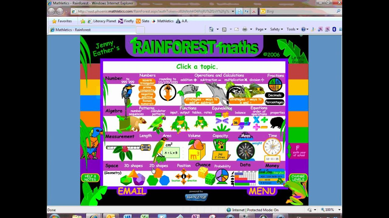 Mathletics 4 Games, Toons and Rainforest Maths - YouTube
