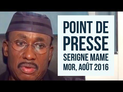 Le Point De Presse De Serigne Mame Mor Mbacke, Août 2016 - TOUBATV