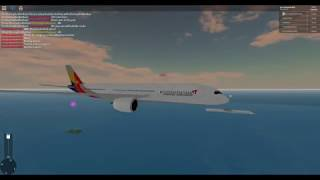 ROBLOX SFS Flight Simluator- Asiana Airlines A350 Flight