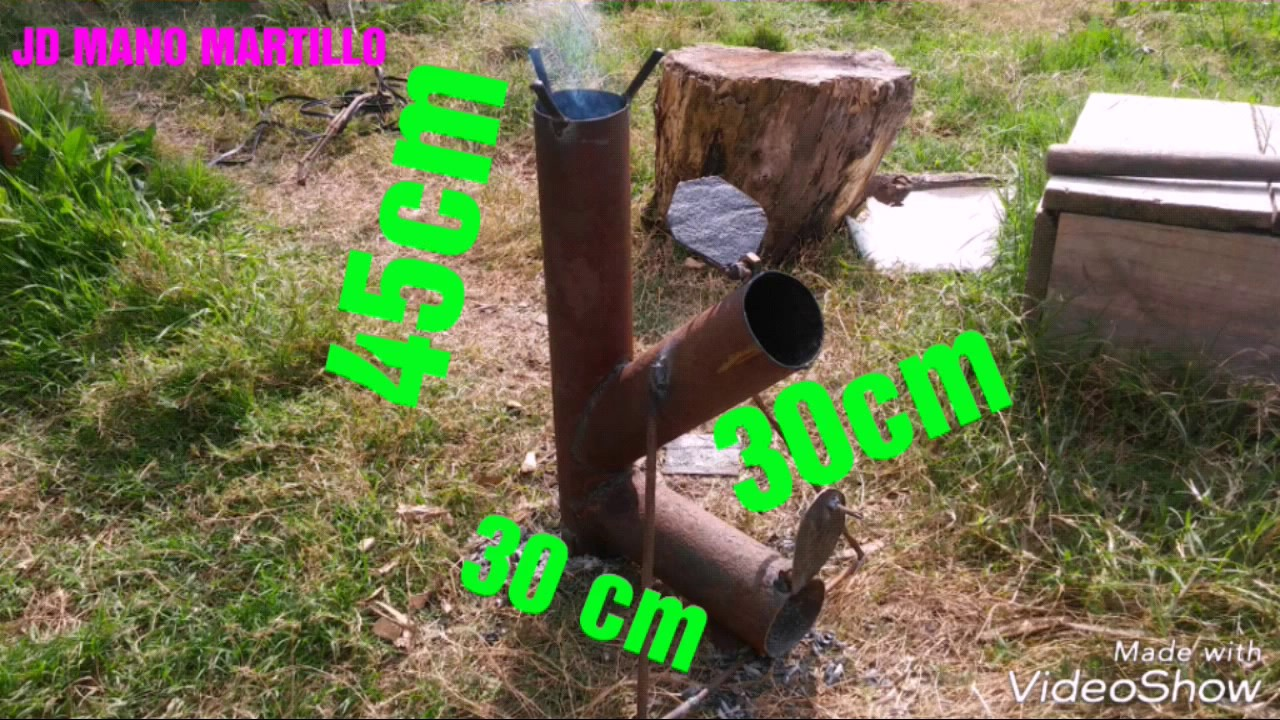 Rocket Stove Cocina Cohete Construccion Facil Cano Redondo