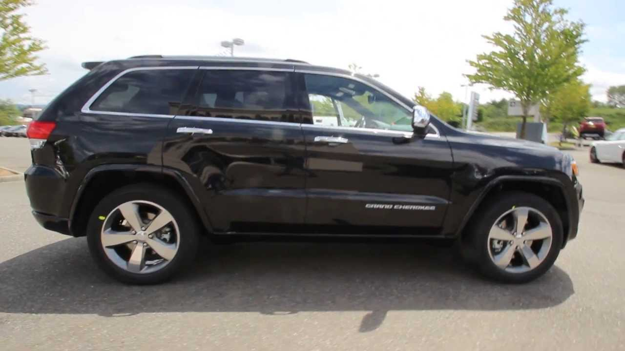 2014 Jeep Grand Cherokee Overland Black Crystal Stk