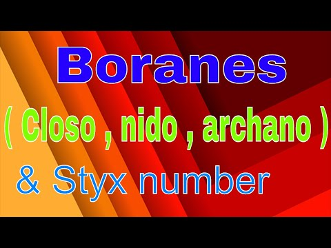 Boranes ( closo, nido,archano ) & Styx number
