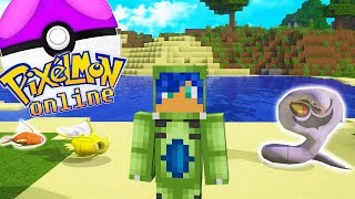 CAPTURO MI PRIMER POKEMON... ¿Y EL SEGUNDO? | PIXELMON ONLINE MINECRAFT POKEMON MOD 1.10.2
