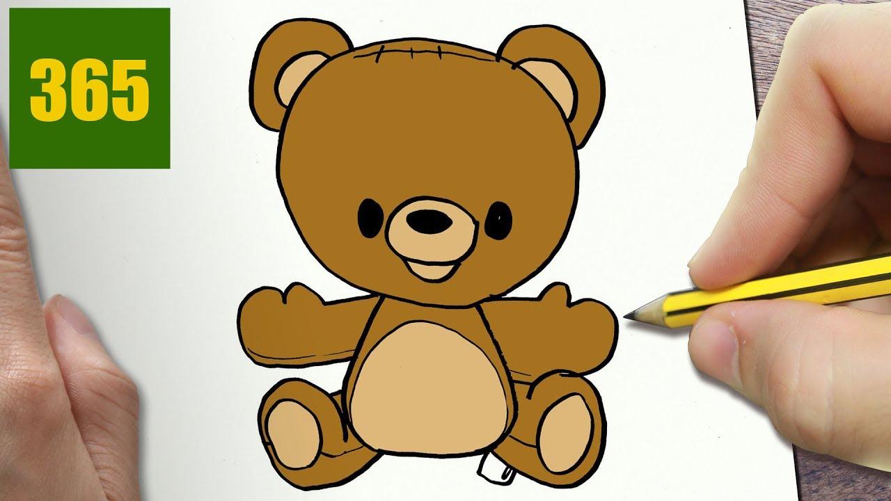 Come disegnare sopportare kawaii passo dopo passo - Comment dessiner winnie l ourson ...