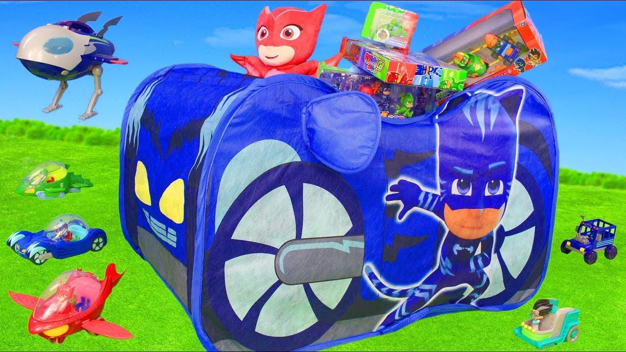 Download PJ Masks: Catboy, Gekko & Owlette Play Tent, Rocketship HQ, Ride on & Toy Vehicles for Kids