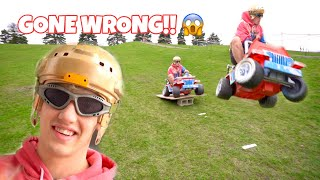 TOY CAR EXTREME JUMPING!! (30 MPH!!!)