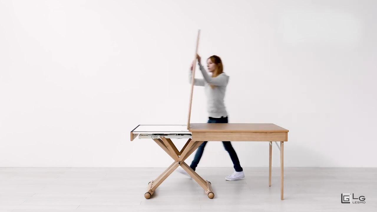Tavolo Consolle Con Sedie Pieghevoli.Tavolo Magico Allungabile Rovere Con Riquadri 8 Posti Lg Lesmo