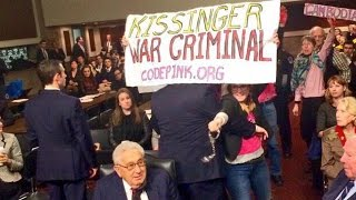 "CodePink Attempts to ""Arrest"" Henry Kissinger for War Crimes in Vietnam, Laos, Chile and East Timor"