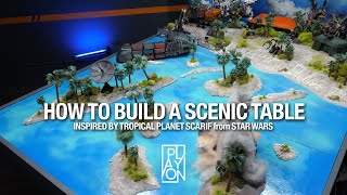 How to build Ocęan Table Terrain inspired by Star Wars Scarif - A no resin water board.
