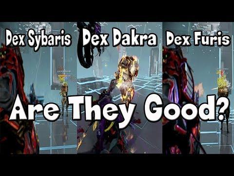 Warframe - Dexcalibur, Dex Sybaris, Dex Furis, Dex Dakra, Dex Nouchali Syandana!