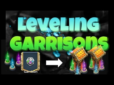 CastleClash Leveling Up My Garrisons
