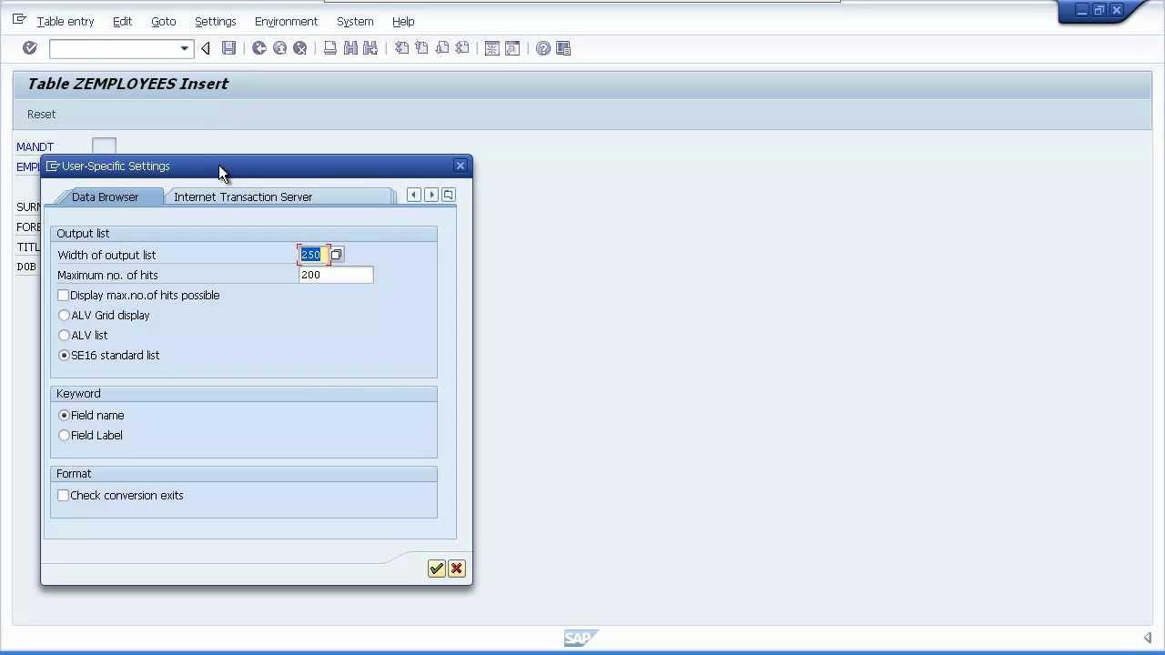 ABAP Tutorial - SAP for Beginners