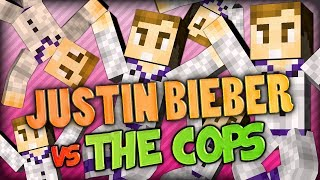 Baby, Baby, Bieber VS The Cops - Minecraft Mods Battle #1