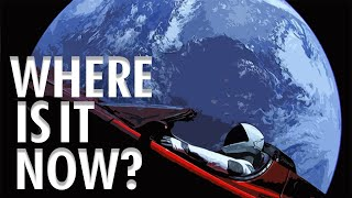 Where is the car Tesla launched into Space?