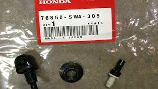 Замена форсунки омывателя заднего стекла HONDA CR-V