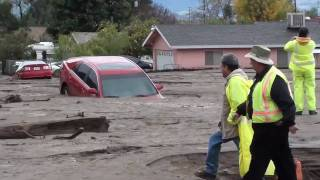 The Mini Flood Aftermath Highland California, Eastern Greater Metropolitan Los Angeles Region