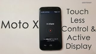 Moto X Special Features - Touchless Controls & Active Notifications