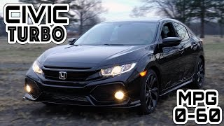 2017 Honda Civic Hatchback Sport Turbo Manual 0-60 MPH Review - Highway MPG Road Test