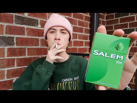 Smoking a Salem Menthol Cigarette - Review