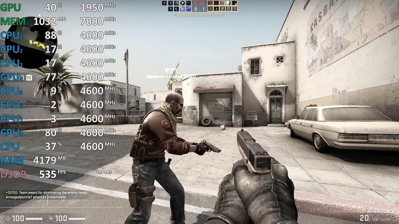 CS:GO on GeForce RTX 2080 Ti and Intel i7-9700K - Gameplay Benchmark Test