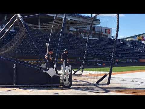 Yankees' Clint Frazier takes BP at Triple-A Scranton