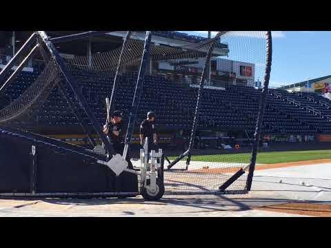 Yankees' Clint Frazier takes BP at Triple-A Scranton