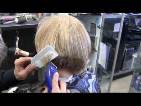 Asymmetrical A Line Blonde Bob Clipper Haircut Video YouTube